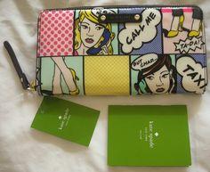 AUTHENTIC (NWT) Kate Spade Pop Art NEDA Zip Around Multi Color Wallet - $119