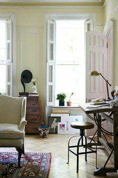 Katie Rodgers of Paper Fashion Interior Shutters, Beautiful Houses Interior, Home Desk, Living Room Inspiration, Home And Living, Living Room Decor, Home Furniture, Tumblr, Interior Design