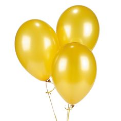Gold Metallic Latex Balloons - OrientalTrading.com  24 for 4.50