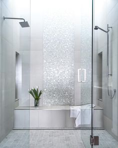 Lucente 12 x 12 Glass Stone Blend Circle Mosaic Tile in Ambrato bathroom tile ideas 748793875530682413 Bad Inspiration, Bathroom Inspiration, Small Bathroom With Shower, Shower Niche, Bathroom Showers, Bath Shower, Master Shower Tile, Shower Accent Tile, Small Master Bathroom Ideas