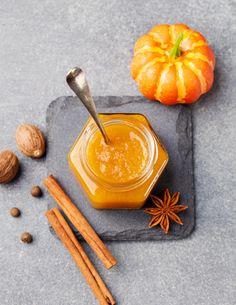 dżem z dyni pumpkin jam Pumpkin Jam, Pumpkin Spice, Fall Scents, Portuguese Recipes, Bread Baking, Chutney, Food Photo, Food Inspiration, Spices