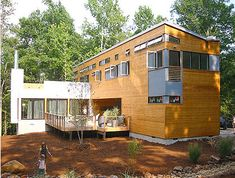 Prefab: Prefabricated homes, often referred to as prefab homes, are dwellings manufactured off-site in advance, usually in standard sections that can be easily shipped and assembled.