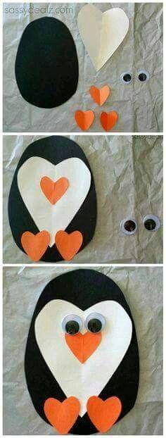 Pingüino de corazón