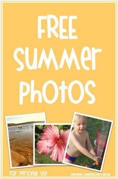 FREE Summer Themed Photos for your Classroom