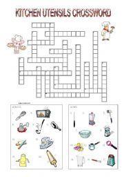 Best Snap Shots Kitchen Utensils Worksheet Strategies Life Skills Worksheets Facs Classroom Crossword