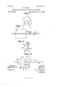 1888Patent US376558 - Method of and Device for Fitting Garments - Google Patents