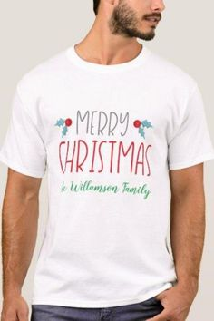 This tshirt is perfect for your family for Christmas  #MerryChristmas #customizedshirt #MerryChristmas #Zazzle #MissRhoadie
