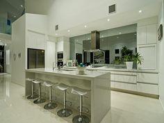 Image result for mirror splashback GREY kitchen
