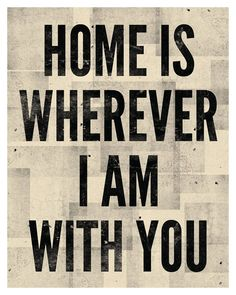Home is Wherever I Am With You Print 8 x 10 by AmyRogstad on Etsy