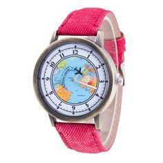 3854bc65 Delicate Hot! 2016 Femal Fashion Retro Clock Women's Tower World Map Cowboy  Band Analog Quartz Wrist Watch Ladies Bracelet Watch