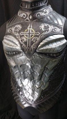 "geektothemax: "" Dragon Crusader Breastplate Preview by Azmal """