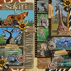 Zoo scrapbook page idea... I want to go to the Zoo!!