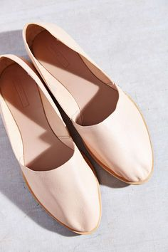 pale pink d'orsay flats