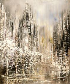 White Album, winter landscape painting by Tatiana iliina