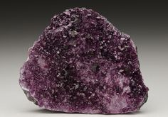Vivid purple Chromium Clinochlore var. Kammererite featuring crystals to 4mm scattered on a chromite matrix, from the classic Turkish locality.