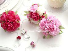 Diy cinta de Rose bola de la flor rosa pom poms flores de seda Wedding Party decor mayoristas artificial hydrangea 10 colores(China (Mainland))