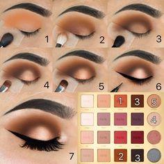 Makeup - Eyeshadow Tutorial - Weddbook Eye Makeup kim k eye makeup tutorial Make Up Tutorial Contouring, Eyeshadow Tutorial For Beginners, Eyeliner Tutorial, Eye Shadow Tutorial, Brown Eyeshadow Tutorial, Mac Makeup Tutorials, Makeup Goals, Makeup Inspo, Makeup Inspiration