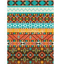 Seamless+navajo+geometric+pattern+vector+1268029+-+by+tomuato on VectorStock®