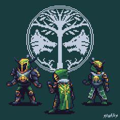 Iron Banner Pixel Art Guardians