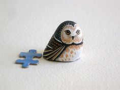 Owl miniature totem home and living terrariums by RockArtiste, $25.00