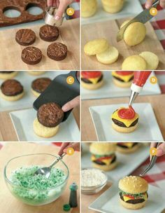 Learn HOW TO make CHEESEBURGER CUPCAKES http://myincrediblerecipes.com/the-top-most-amazing-cupcake-ideas/