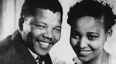 Nelson Mandela and his second wife, Winnie Madikizela-Mandela, at their 1958 wedding.