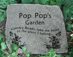 engraved garden stones. Custom Engraved Garden Stones, Rocks, Memorial Personalized Stepping Pocket Stones ?