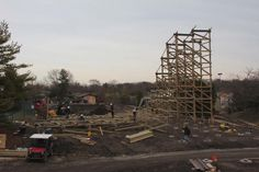 December 2014; structure starting. Photo by Six Flags Great America.