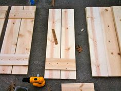 "I started with a 1"" x 8"" x 12' piece of pine and had it cut into 41-inch sections (at Lowes - they did it for me!).  I used a 1"" x 6"" x 15..."
