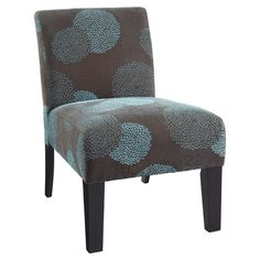 Found it at Wayfair - Deco Sunflower Slipper Chair in Blue