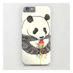 Panda Loves Ice Cream iPhone 6s Case (€28) ❤ liked on Polyvore featuring accessories, tech accessories and iphone & ipod cases