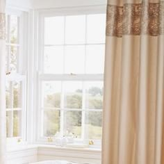 Gold Zetta Thermal Eyelet Curtains