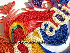 Hooks And Laces: Quilled Name Frame