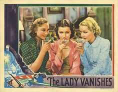 The Lady Vanishes, Hitchcock, lobby card, 1938