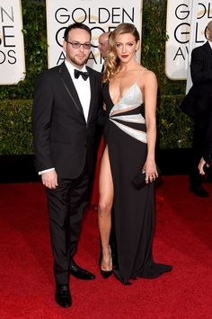 Katie Cassidy and Dana Brunetti at the Golden Globes
