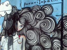 Sonke, Thessaloniki Street Art Utopia, Street Art Graffiti, Curly Wurly, Street Art Love, Thessaloniki, Street Artists, Artsy Fartsy, Surrealism, Random Things
