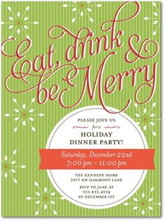 Eat, drink, and be merry.