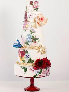 рисованный торт