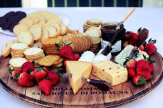 How to Serve Cheese: Get inspired with this wine barrel lid turned lazy susan!