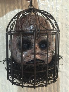 Creepy Doll Spooky Doll Head OOAK Reborn Horror Gothic Scary Dead Haunted | eBay