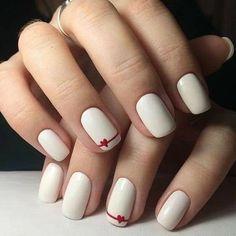 nail art designs for spring ; nail art designs for winter ; nail art designs with glitter ; nail art designs with rhinestones Simple Acrylic Nails, Acrylic Nail Art, Easy Nail Art, Acrylic Nail Designs, Simple Nails, Simple Nail Arts, Frensh Nails, Red Nails, Cute Nails