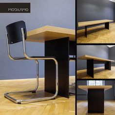 Maßtisch vom Tischler - by MOBILAMO Shop Counter, Dinner Table, Simple Designs, Office Desk, Designer, Tables, Chair, Room, Furniture