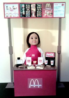 American Girl Sized McDonalds Restaurant by theartisttreehouse