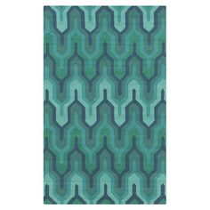 Found it at AllModern - Brentwood Geometric Green & Teal Rug http://www.allmodern.com/deals-and-design-ideas/p/Haute-Trend%3A-Jewel-Toned-Rugs-Brentwood-Geometric-Green-%26-Teal-Rug~YA45136~E16104.html?refid=SBP.rBAZEVRqUNKEo1hfkU1DAp9hKQFhNUAEktgldg3PqcQ