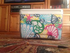 The cooler I painted for myself!