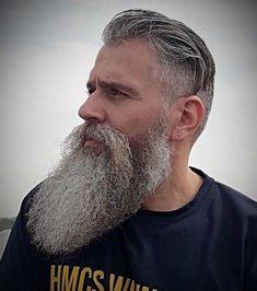 Grey Hair Beard, Long Hair Beard, Badass Beard, Epic Beard, Grey Beards, Long Beards, Beard Styles For Men, Hair And Beard Styles, Older Men Haircuts