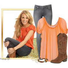 """GET THAT LOOK~CARRIE UNDERWOOD"" by happygirljlc on Polyvore"