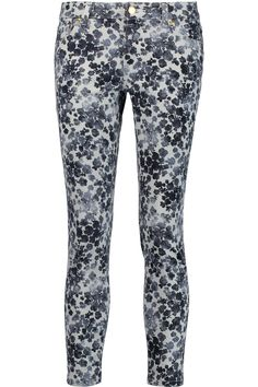 MICHAEL MICHAEL KORS IZZY PRINTED LOW-RISE SKINNY JEANS  £60 http://www.theoutnet.com/product/880544