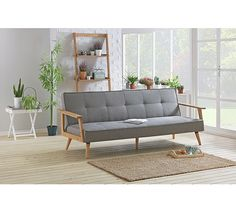 Buy Hygena Margot Fabric Sofa Bed - Charcoal at Argos.co.uk, visit Argos.co.uk to shop online for Sofa beds, chairbeds and futons, Sofas, armchairs and chairs, Home and garden