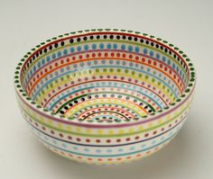 hand painted bowls cereal -
